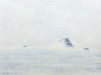"""Antarctica 5 Nunatak"", acrylic on canvas, 18'' x 22'', 2006"