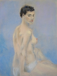 """So...?"", pastel on paper, 64cm x 48cm, 2006"
