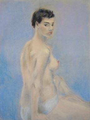 """So...?"", pastel on paper, 64cm x 48cm, 2006"