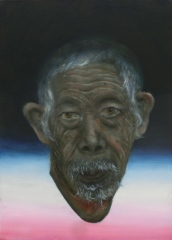 """Your grandfather killed many of my people"", oil on canvas, 35.5 cm x 25.5 cm, 2009"