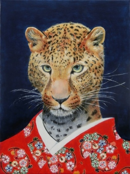 """""""Wild At Heart I"""", acrylic on canvas, 16'' x 12'', 2015"""