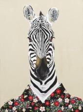 """""""Wild At Heart III"""", acrylic on canvas, 16'' x 12'', 2015"""