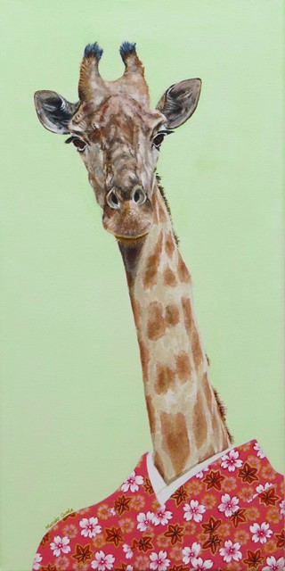 """Wild At Heart VI"", acrylic on canvas, 20'' x 10'', 2015"