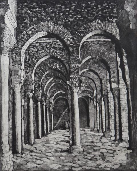 The Great Mosque of Kairouan, aquatint, 2007