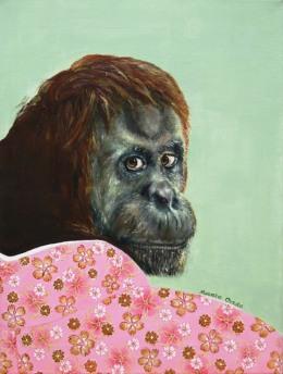 """Wild At Heart VIII"", acrylic on canvas, 16'' x 12'', 2016"