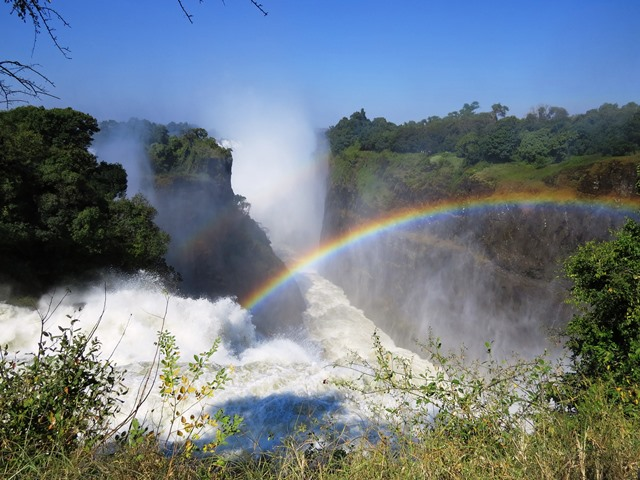 Double rainbows, Victoria Falls, Zimbabwe, May 2016