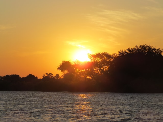 Sunset on the Zambezi, Victoria Falls, Zimbabwe, May 2016