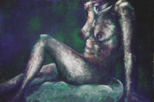 """Lerato"", acrylic on board, 50cm x 65cm, 2004"