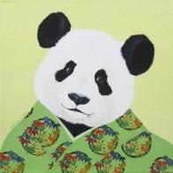 """""""Wild At Heart XV"""", acrylic on canvas, 14'' x 14'', 2016"""
