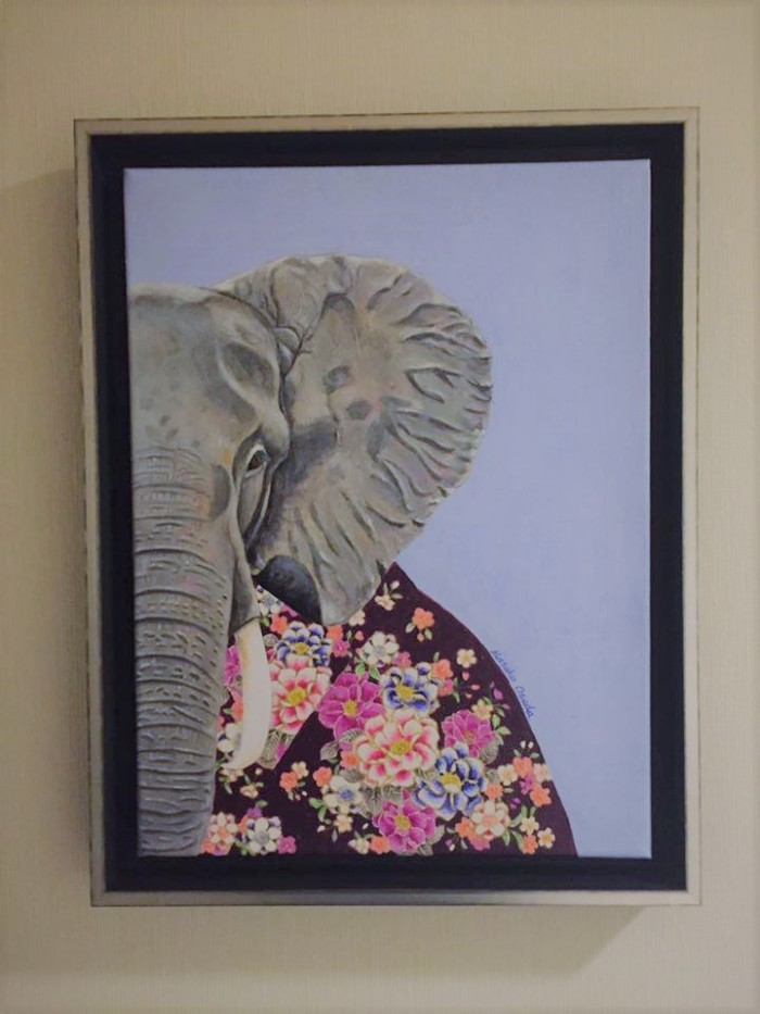 elephant framed