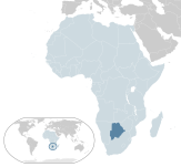 location of Botswana