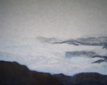 """Antarctica 7 misty summer morning"", acrylic on canvas, 20"" x 16"", 2006"