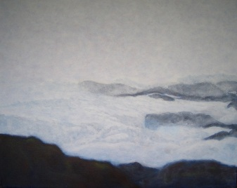 """Antarctica 7 misty summer morning"", acrylic on canvas, 20"" x 16"", 2006"