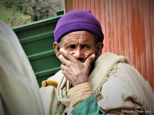 Old man pondering