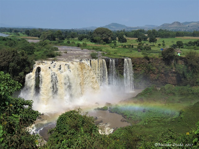 Blue Nile Falls with rainbow