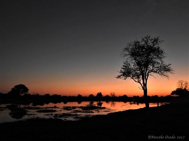 Sunset, Khwai, Botswana, June 2017