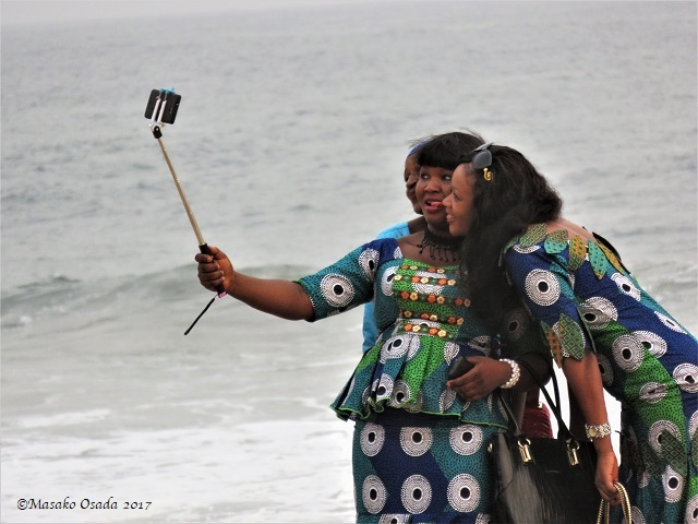 Selfie, Golden Beach, Monrovia, Liberia, April 2017