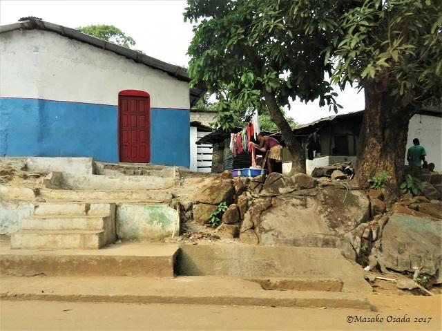 Washing clothes, Monrovia, Liberia, April 2017