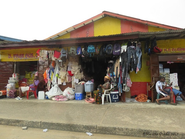 Shop owner, Monrovia, Liberia, April 2017