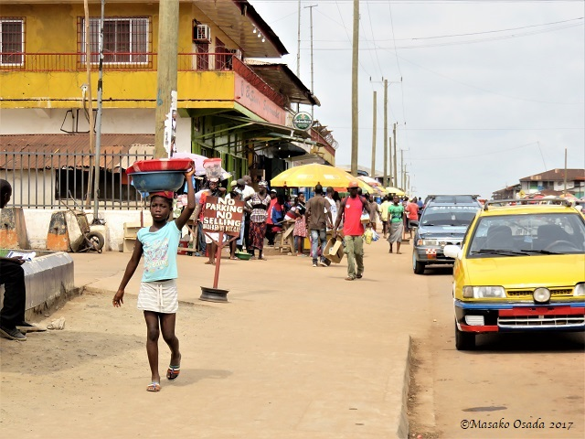 Main street, Katata Town, Liberia, April 2017