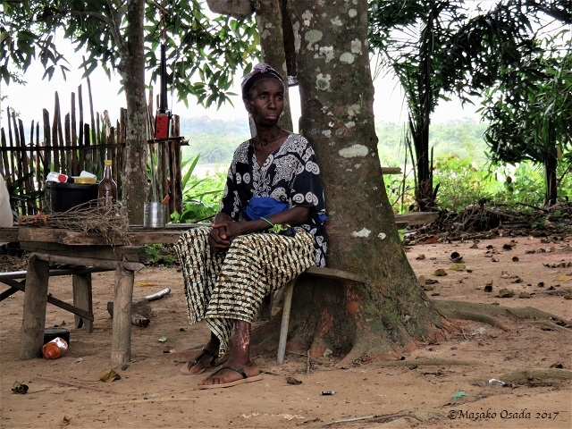Old farmer, Bong, Liberia, April 2017
