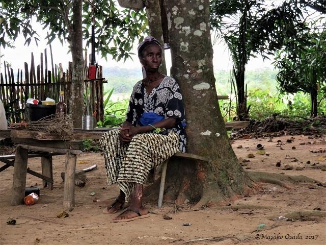 Old farmer, Bong, Liberia, April 2017
