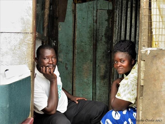 Husband and wife, Monrovia, Liberia, April 2017