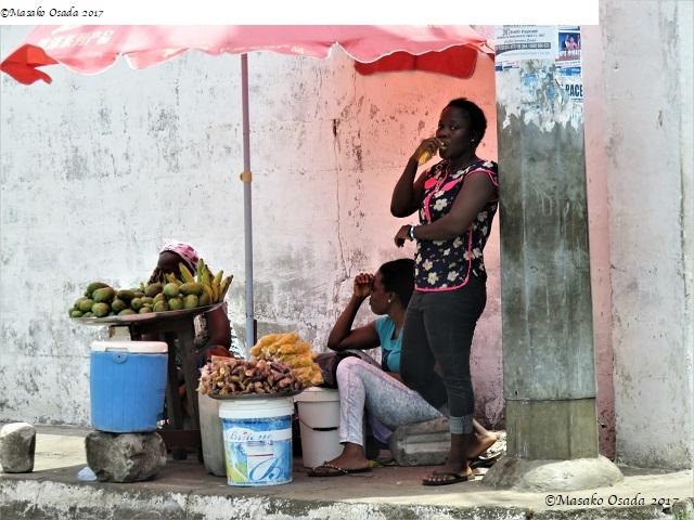Street vendors, Monrovia, Liberia, April 2017