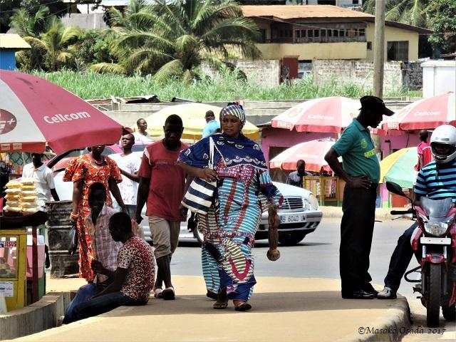 Dignified lady, Monrovia, Liberia, April 2017