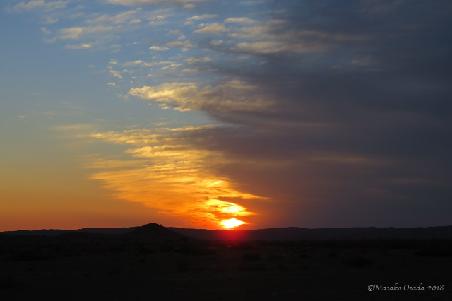 Sunset near Sossuvlei, Namibia, April 2018