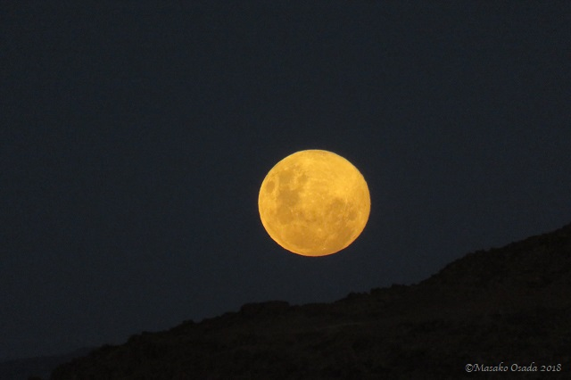 Full moon near Sossuvlei, Namibia, April 2018