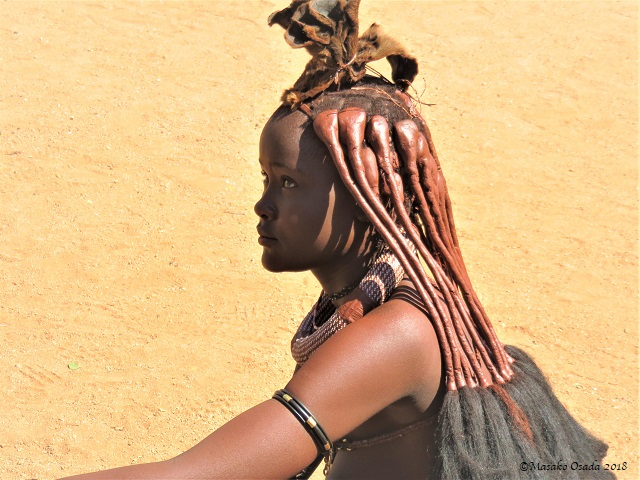 Himba girl, Onjowewe Village, Namibia, May 2018