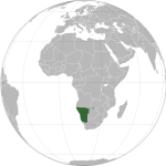 Namibia location