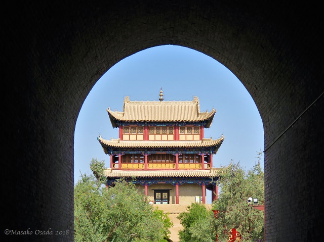 Guanghua Tower. Great Wall Fortress, Jiayuguan, Gansu, September 2018