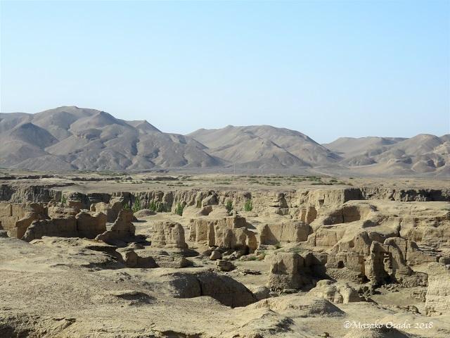 Jiaohe Citadel, Yarnaz Valley, Turpan, Xinjiang, September 2018