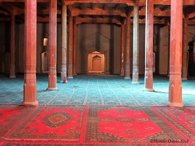 Inside of Emin Minaret. Turpan, Xinjiang, September 2018