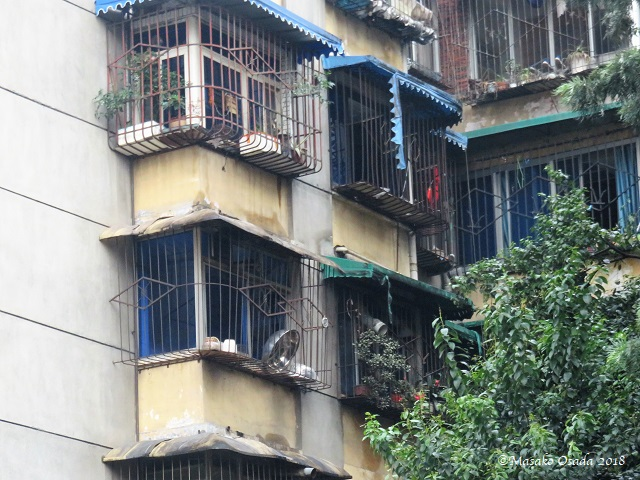 Old apartment building. Chengdu, Sichuan, September 2018
