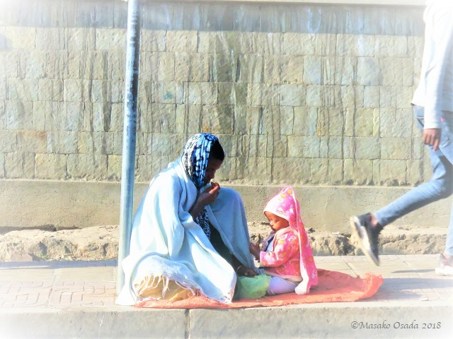 Mother and child. Addis Ababa, Ethiopia, November 2018