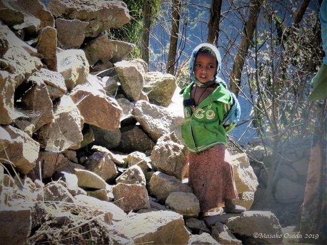 Child in Egora village, Guassa, Ethiopia, January 2019