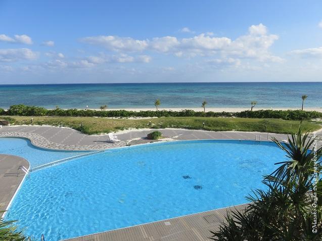 View from my room, Eef Beach Hotel, Kumejima, Okinawa, November 2019