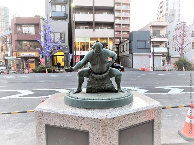 Sculpture of sumo wrestler, Tokyo, November 2019