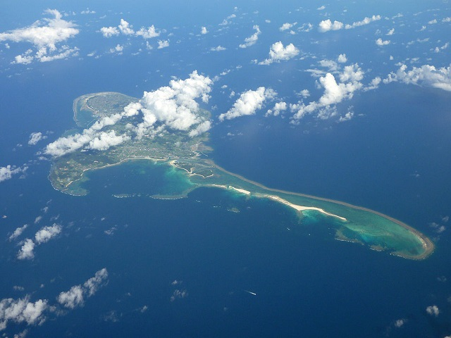 Aerial view of Kumejima